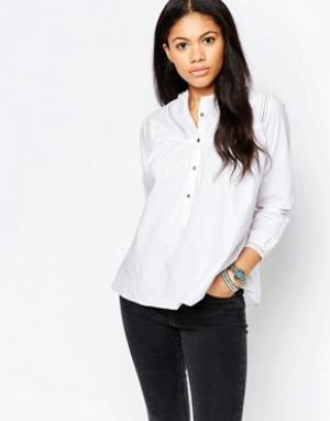 MiH Jeans Белая рубашка с отделкой на кокетке M.i.h. Цвет: белый