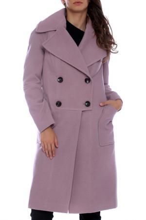 Пальто Moda di Chiara. Цвет: розовый