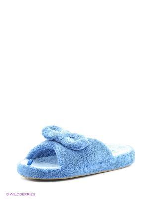 Тапочки женские Dream Feet. Цвет: голубой