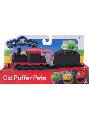 Chuggington набор Паровозик с вагончиком Пит. Цвет: черный, красный