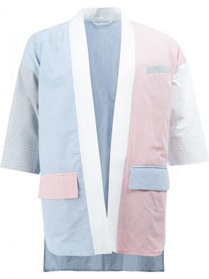 Пиджак с глубоким V-образным вырезом Wooster + Lardini. Цвет: многоцветный