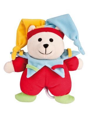 Игрушка мягкая музыкальная - мишка, 0+ форма: клоун Canpol babies. Цвет: рыжий, красный, светло-желтый