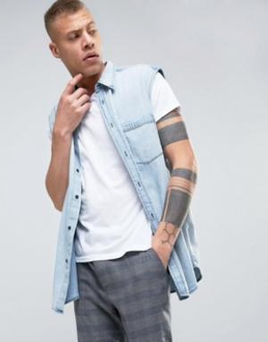 Cheap Monday Джинсовая рубашка Solder. Цвет: синий