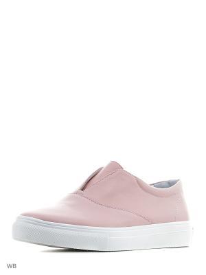 Слипоны BRULLOFF. Цвет: бледно-розовый