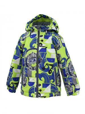 Куртка для детей JODY HUPPA. Цвет: светло-зеленый, серый
