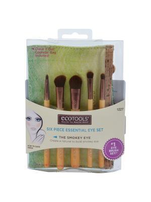 Набор кистей для макияжа Essential Eye Set Ecotools. Цвет: золотистый, коричневый