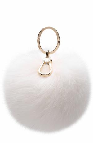 Брелок Bubble с мехом Furla. Цвет: белый