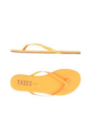 Вьетнамки TKEES. Цвет: оранжевый