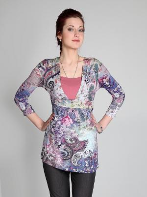 Блузка Мамуля красотуля. Цвет: розовый
