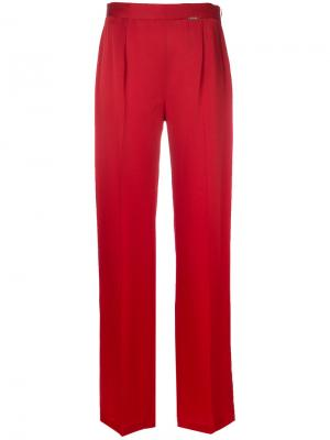 Прямые брюки Styland. Цвет: красный