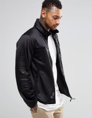 Your Own Куртка на молнии с отделкой декоративным кантом. Цвет: черный