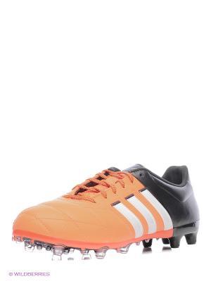 Бутсы Ace 15.2 Fg/Ag Leat Adidas. Цвет: оранжевый