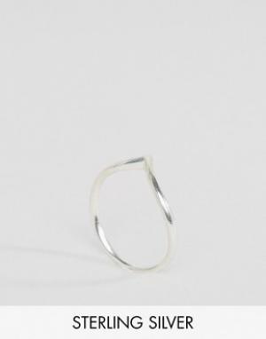 Fashionology Серебряное V-образное кольцо. Цвет: серебряный