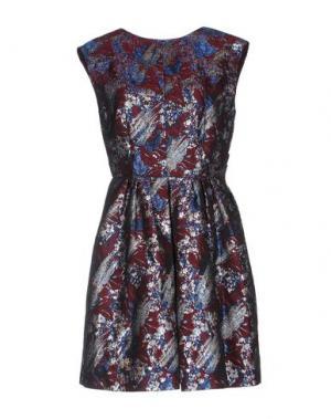 Короткое платье PINKO. Цвет: красно-коричневый