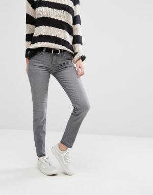 Lee Укороченные джинсы скинни Scarlett. Цвет: серый
