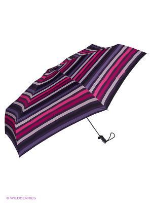 Зонты Isotoner. Цвет: белый, черный, фиолетовый, розовый