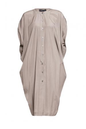 Платье из вискозы 188068 Cyrille Gassiline. Цвет: коричневый