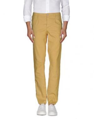 Повседневные брюки MANILA GRACE DENIM. Цвет: желтый