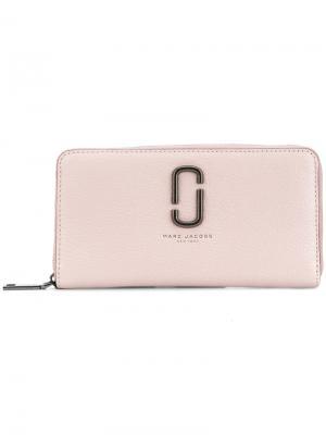 Кошелек на молнии Marc Jacobs. Цвет: розовый и фиолетовый