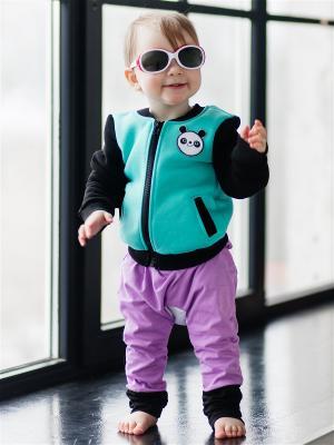 Куртка детская Панда мята Yuumi. Цвет: зеленый