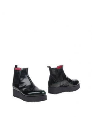 Полусапоги и высокие ботинки 181 BY ALBERTO GOZZI. Цвет: темно-зеленый
