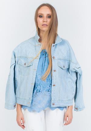 Куртка джинсовая Marissimo. Цвет: голубой
