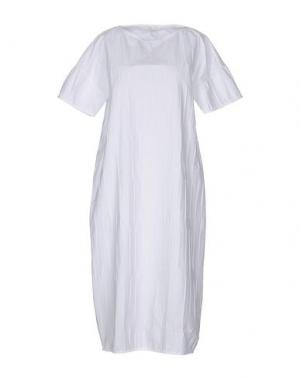 Платье длиной 3/4 GUGLIELMINOTTI. Цвет: белый