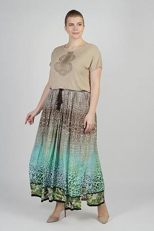 Юбка женская  Ls-18056 Printleopard Steinberg. Цвет: мультиколор