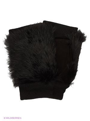 Митенки Pur. Цвет: черный