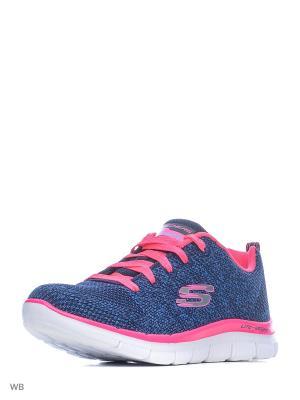 Кроссовки SKECHERS. Цвет: синий, розовый