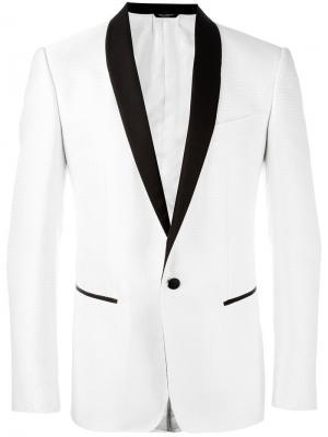 Пиджак в горох Dolce & Gabbana. Цвет: белый