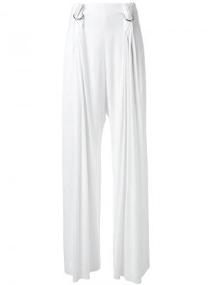 Плиссированные брюки Dion Lee. Цвет: белый