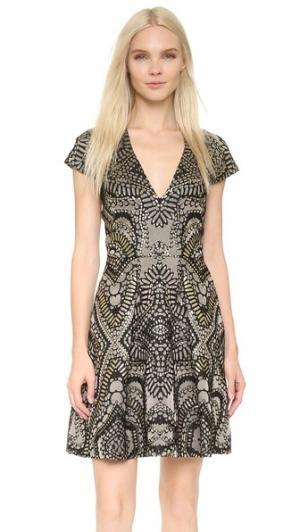 Мини-платье Roxana Temperley London. Цвет: оливковый микс