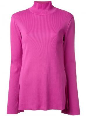 Джемпер с расклешенными рукавами G.V.G.V.. Цвет: розовый и фиолетовый