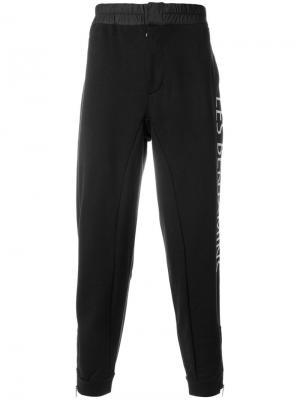 Спортивные брюки с графическим принтом Les Benjamins. Цвет: чёрный