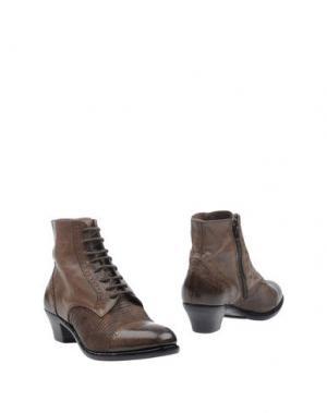 Полусапоги и высокие ботинки INK. Цвет: хаки