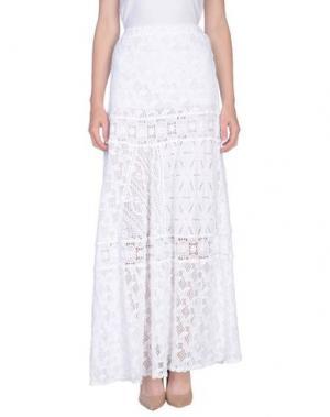 Длинная юбка TEMPTATION. Цвет: белый