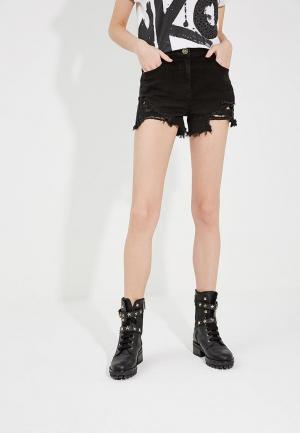 Шорты джинсовые Elisabetta Franchi. Цвет: черный