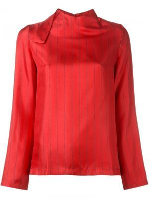 Блузка в тонкую полоску Each X Other. Цвет: красный