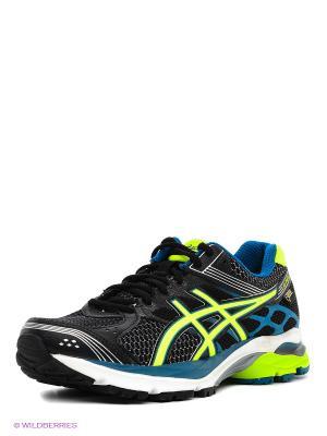 Беговые кроссовки Gel-Pulse 7 G-Tx ASICS. Цвет: черный, синий, салатовый