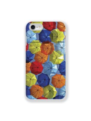 Чехол для iPhone 7 Зонтики IP7.MITYA-012 Mitya Veselkov. Цвет: красный, оранжевый, синий