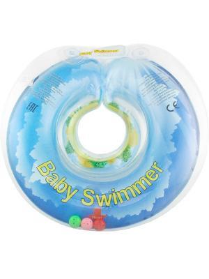 Круг голубой Baby Swimmer. Цвет: голубой
