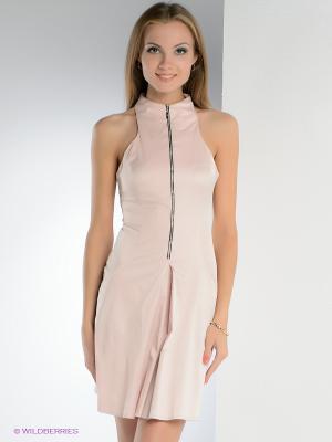 Платье FRENCH HINT. Цвет: бледно-розовый