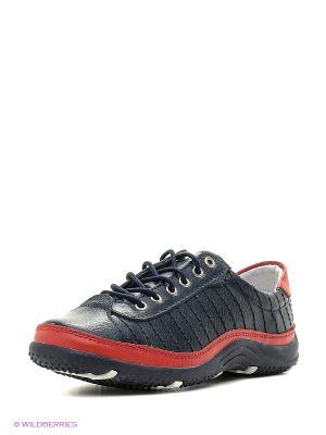 Ботинки ELITE. Цвет: темно-синий, красный