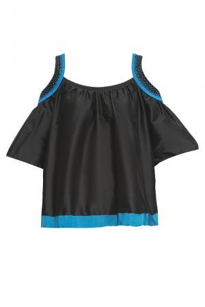 Блуза из шелка 161401 Iya Yots. Цвет: черный