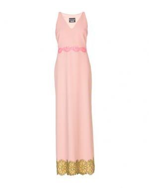 Длинное платье BOUTIQUE MOSCHINO. Цвет: лососево-розовый