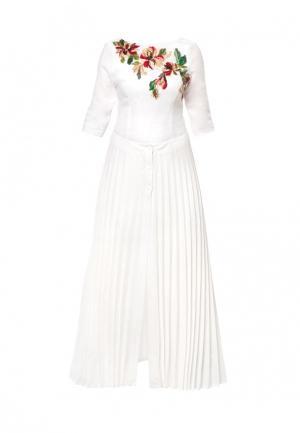 Платье Yukostyle. Цвет: белый