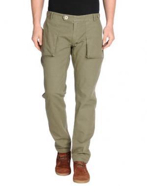 Повседневные брюки MOLO ELEVEN. Цвет: зеленый-милитари