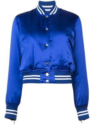 Куртка-бомбер Amiri. Цвет: синий
