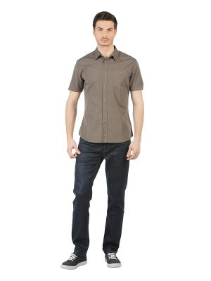 Рубашка Colin's. Цвет: хаки